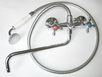 СмВУ71 латунный переключатель, шланг металлический, фарфоровая лейка